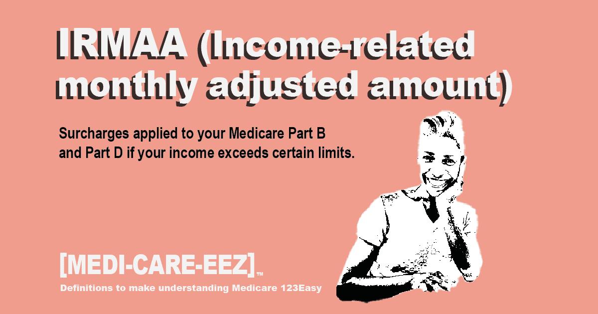 Income Related Monthly Adjusted Amount IRMAA - Medicareeez