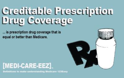 Creditable Prescription Drug Coverage | Medi-care-eez